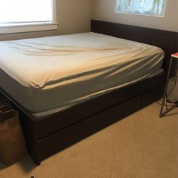 Queen Storage Bed (ikea ) for Sale in Bothell, WA