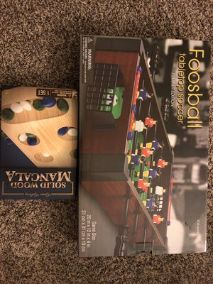 Board game (foosball tabletop soccer and solid wood mancala) sealed pack for Sale in Dunwoody, GA