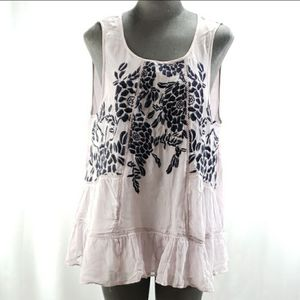 Antropologie Floreat Sleeveless Embroidered Top Purple Size Large for Sale in Redmond, WA