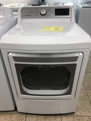 LG 7.3 cu ft Smart Electric Dryer with WiFi Enabled in White full 1 year warranty take home $39 down for Sale in Miami, FL