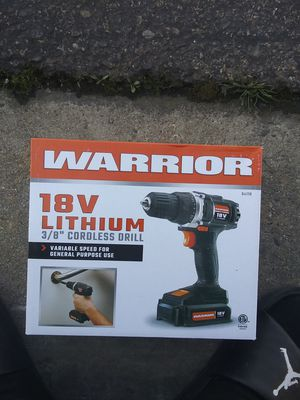 Warrior 18v drill for Sale in Fresno, CA