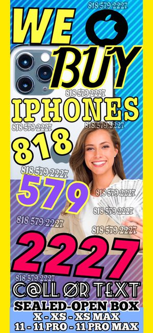 iphone 11 pro max 11 pro xr x xs max NEW SEALED OPEN BOX iCloud locked - NEW SEALED BOX iPad MacBook Apple Watch cellphone smartphone phone ⚱️🔮 for Sale in Los Angeles, CA