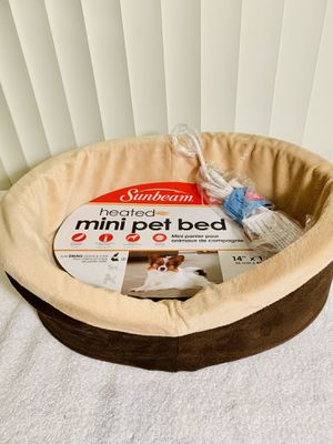 """New!! Sunbeam® Heated Cuddler Pet Bed for Small Dogs & Cats: 14"""" x 18"""" - Veterinarian recommended, w/ targeted therapeutic heat for bones & muscles + for Sale in Boynton Beach, FL"""
