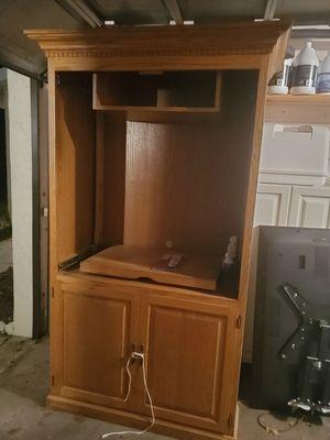 Oak cabinet TV storage. FREE for Sale in Sarasota, FL