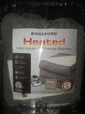 Biddeford heated blanket microplush and sherpa blanket. New for Sale in Garden Grove, CA