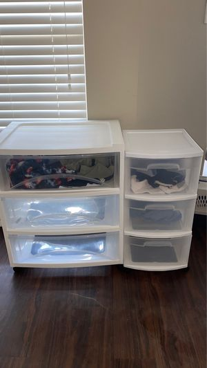 Plastic drawers on wheels for Sale in Frisco, TX