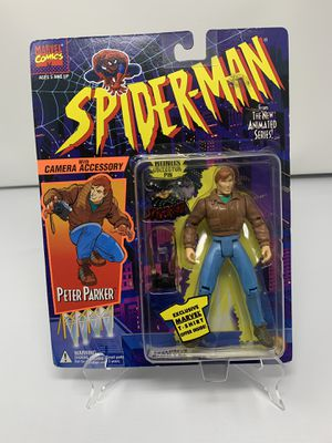 Vintage Peter Parker w/ Camera accessory Action Figure from the 90's Spider-Man The Animated series (Brand New) for Sale in Washington, DC