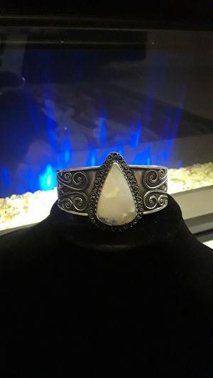 Beautiful 925 stamped gemstone cuff for Sale in Gibsonton, FL