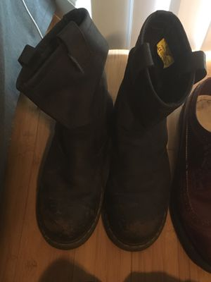 Dr. Marten's steel toed slip on work boots size 11 (scuff marks on toes , reduced price) for Sale in Portland, OR