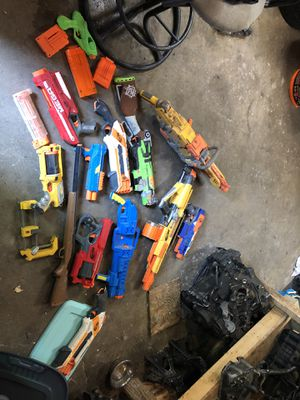 A lot of nerf guns toy guns kids toy guns for Sale in Columbus, OH