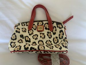 Dooney & Bourke Leopard and Ruby Satchel for Sale in North Haven, CT