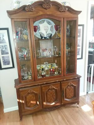 Real wood China closet for Sale in Hyde Park, NY