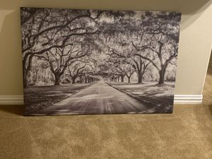 Big painting for sale. Sepia filtered forest painting. for Sale in The Colony, TX