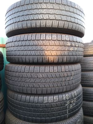 4 used Goodyear truck tires 265/70/17 all 4 for $150 Free installation and balance for Sale in Phoenix, AZ