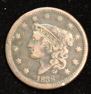 1838 Large Coronet Liberty Head One Cent Coin for Sale in Clyde, TX
