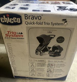 Chiccon Bravo Trio system car seat, base and stroller, Lilla color, NEVER OPENED BOX BRAND NEW for Sale in Buffalo, NY