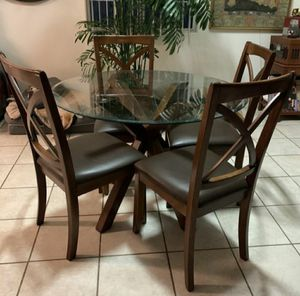 Ashley Glass Wood Table for Sale in Garden Grove, CA