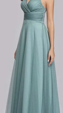Light Blue Shimmering Tulle Bridesmaids Dress for Sale in Richmond,  VA