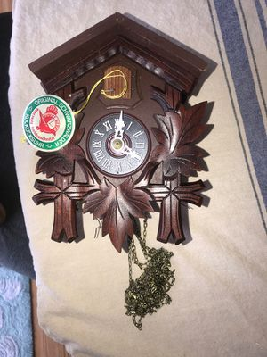 antique cuckoo clock with weights and decor for Sale in St. Petersburg, FL