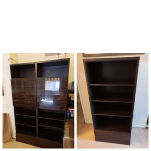 TWO IKEA Besta Storage Combination Cabinets Bookshelf for Sale in Los Angeles, CA