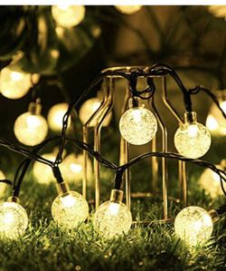 Upgraded Solar String Lights Outdoor Waterproof 60LED Fairy Lights 8 Modes Starry Lights Solar Powered String Light for Garden Yard Home Party Wedding for Sale in San Francisco,  CA