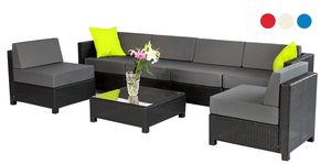 mcombo 7 PC Deluxe Outdoor Garden Patio Rattan Wicker Furniture Sectional Sofa Cushioned Seats 6080 Aluminum frame 6080-1007 for Sale in Montebello, CA