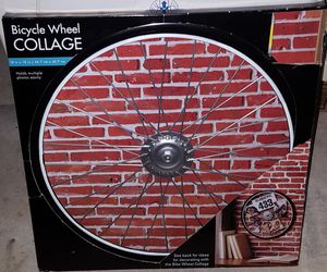 Bicycle Wheel Photo Holder Frame Wall Mounted for Sale in Germantown, MD