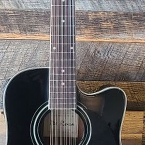 New Black 12 String Requinto Guitar Combo with Gig Bag and accessories. Guitarra Requinto Negro Cutaway con accesorios y Bolsa. for Sale in Tolleson, AZ