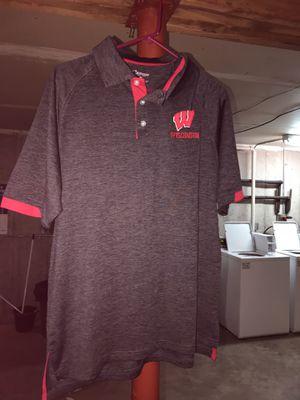 Wisconsin polo tshirt size M for Sale in Menomonie, WI