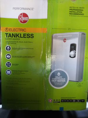 RHEEM tankless water heater .... New in box ...price negotiable for Sale in Richmond, CA