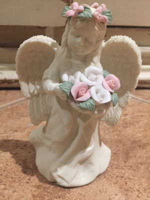 Porcelain glass ceramic angel cherub flower figure statue collectable for Sale in Claremont, CA