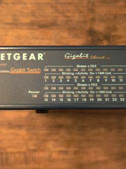 Netgear GS524T 24-Port Gigabit Ethernet Networking Switch Module w/ Power Cord for Sale in Pasco,  WA