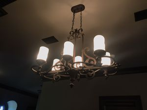 Large iron ceiling light - chandelier for Sale in Franklin, TN
