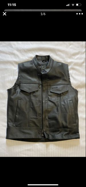 Brand New Men's Leather Motorcycle Vest!! for Sale in Miami, FL