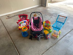 Baby Car seat & Toys $18 for Sale in Phoenix, AZ