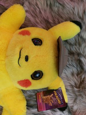 NWT - Pokemon Movie Detective Pikachu Soft Plush Large Stuffed Animal NEW for Sale in CHAMPIONS GT, FL
