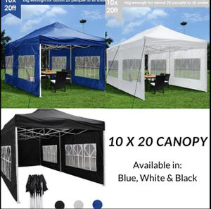 Outdoor 10x20 Carpa Canopy EZ to Set Up Tent Gazebo Cover Shade for Sale in Montclair, CA