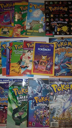 Lot of Pokemon books and Strategy guides for Sale in Strongsville, OH