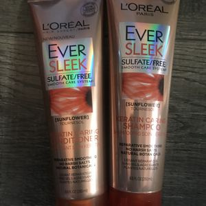 L'ORÉAL ever sleek shampoo and conditioner set for Sale in San Bernardino, CA