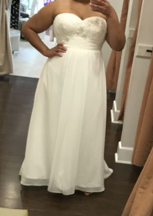 Strapless Wedding Dress (Size 20/22) for Sale in BVL, FL