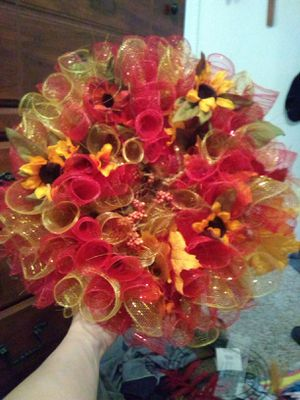 Fall-thanksgiving mesh wreaths for Sale in Rolla, MO