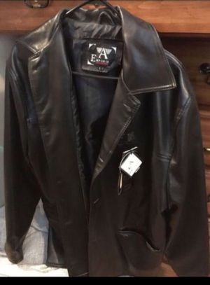 NEW LEATHER JACKET WITH TAGS $20 for Sale in San Diego, CA
