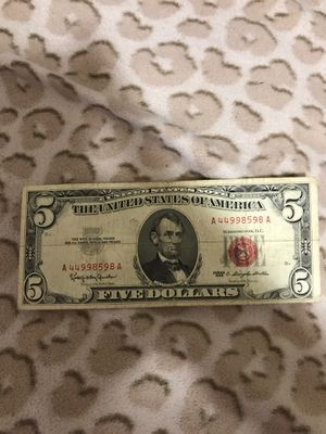 $5 red note legal tender for Sale in Staten Island, NY
