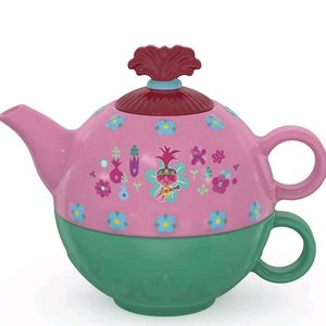 *NEW* POPPY-Trolls 2 2pc Stacking Ceramic Tea Set for Sale in Compton, CA