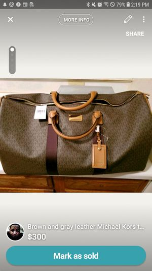 Michael kors brown travel tote bag for Sale in Frederick, MD