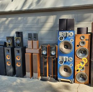 Klipsch Bose PSB Marantz Technics Boston Acoutics Energy Polk Audio and More Speakers!!! for Sale in Modesto, CA
