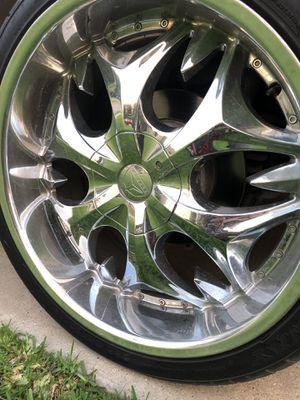 22 Inch Chrome Rims & Tires for Sale in Carrollton, TX