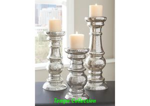 NEW, Rosario Silver Candle Holder (Set of 3), SKU# A2000249 for Sale in Westminster, CA