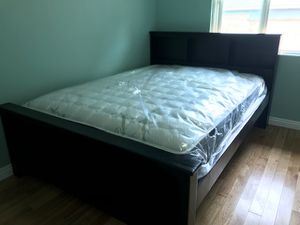 Solid Wood Queen Size Bed with Mattress Included for Sale in Los Angeles, CA