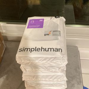 Simplehuman 13-16 Gallon Trash Bags 100 Pack for Sale in Los Angeles, CA